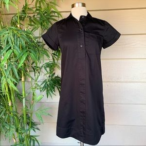 J Crew Black Short Sleeve Dress Size XXS